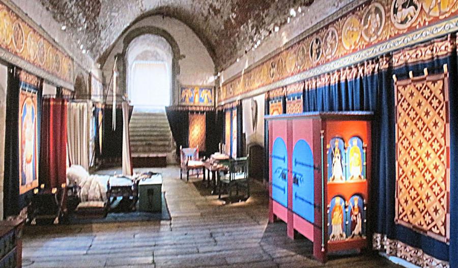 středověký interiér