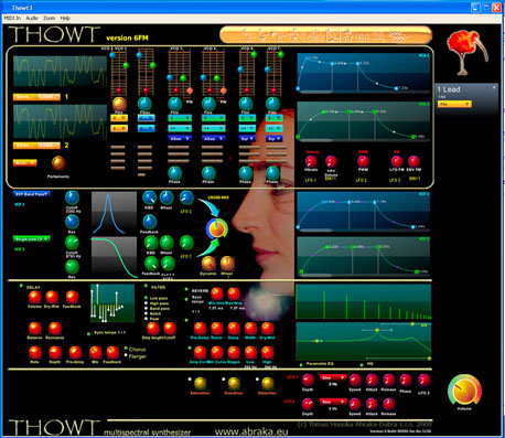 thowt - virtual analog, vector synthesizer, FM synthesizer