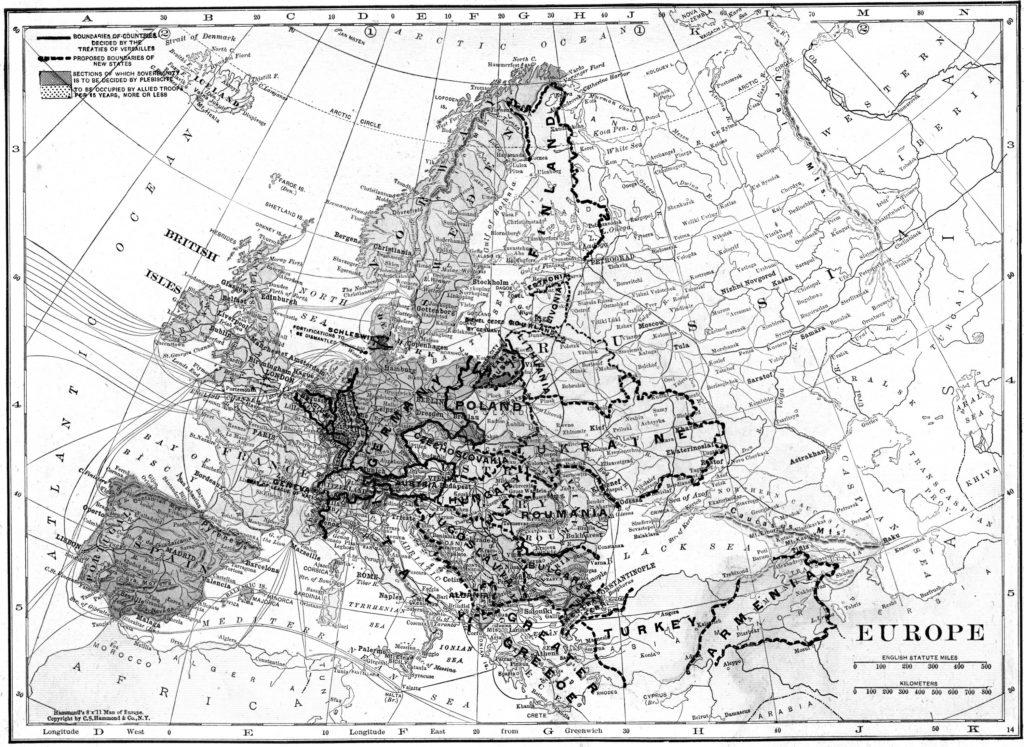 Mapa, která je přílohou smlouvy ze Sevres 1920