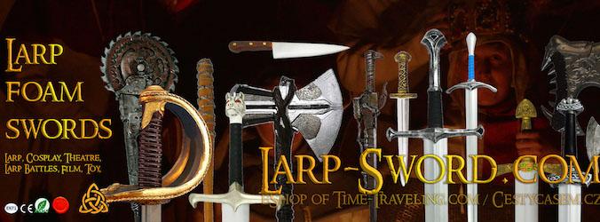 Larp sword, foam sword, měkčené zbraně pro larp a cosplay